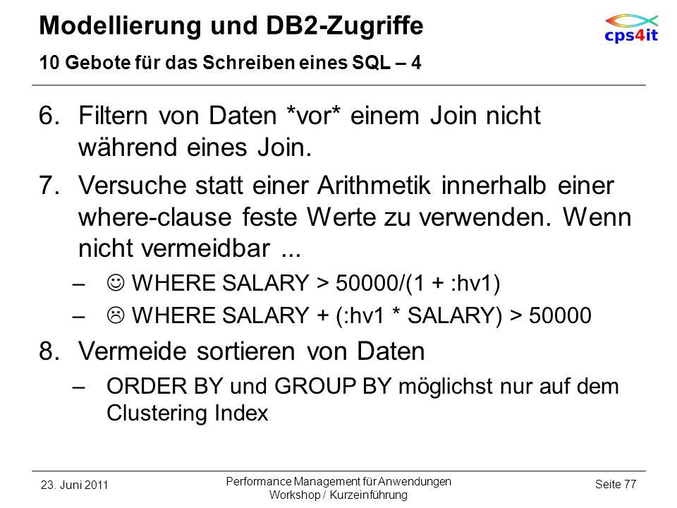 Modellierung und DB2-Zugriffe