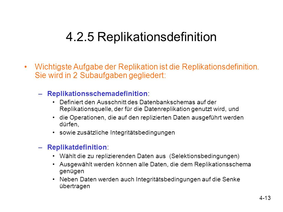 4.2.5 Replikationsdefinition