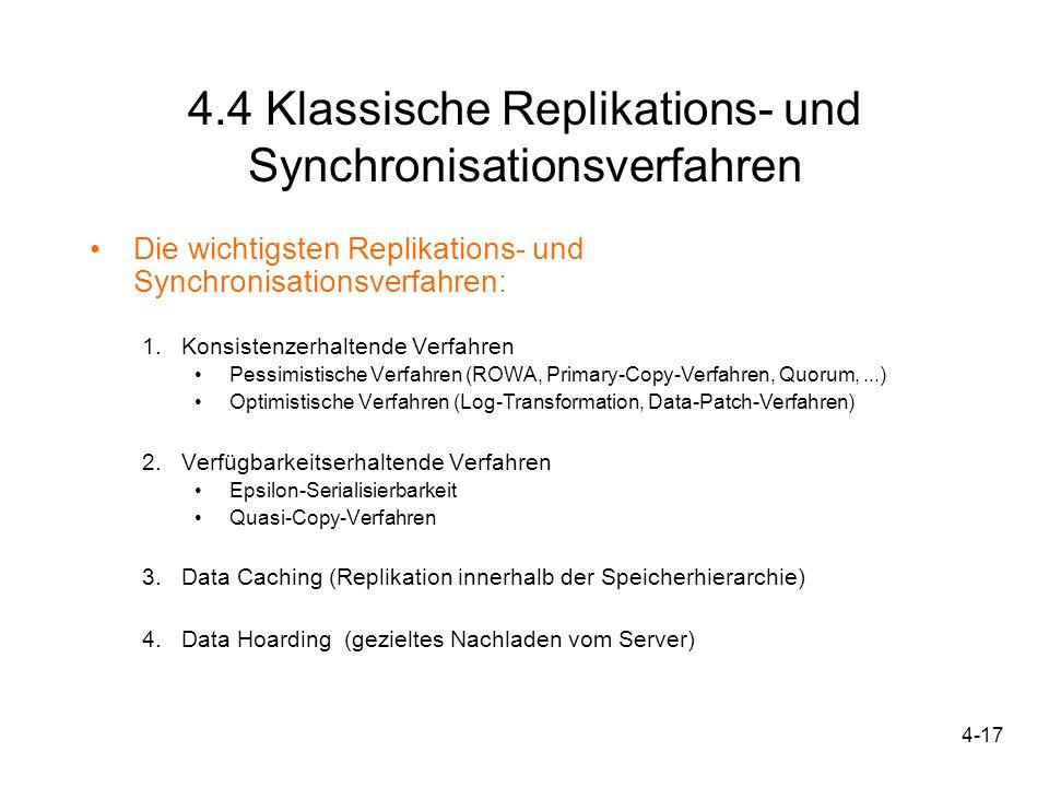 4.4 Klassische Replikations- und Synchronisationsverfahren
