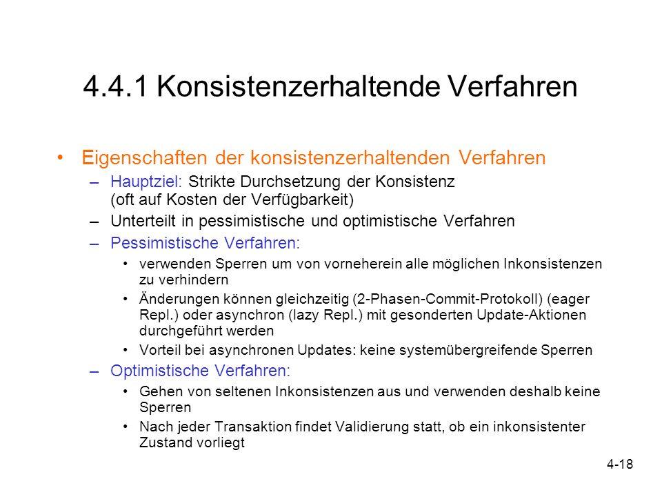 4.4.1 Konsistenzerhaltende Verfahren