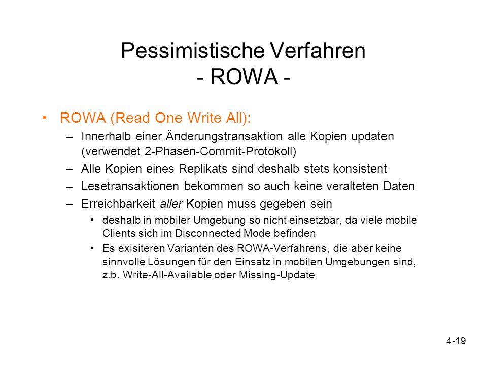 Pessimistische Verfahren - ROWA -