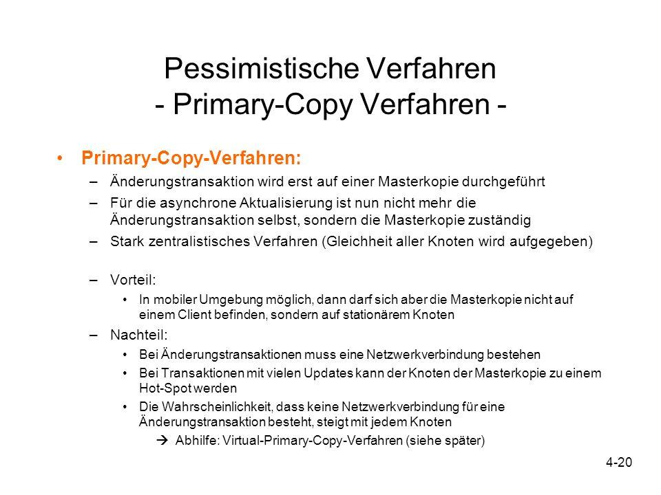 Pessimistische Verfahren - Primary-Copy Verfahren -