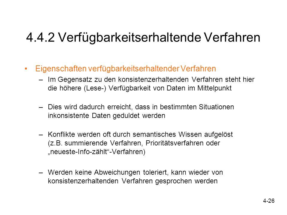 4.4.2 Verfügbarkeitserhaltende Verfahren