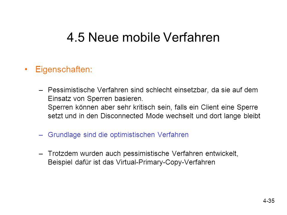 4.5 Neue mobile Verfahren Eigenschaften: