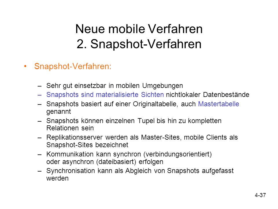 Neue mobile Verfahren 2. Snapshot-Verfahren