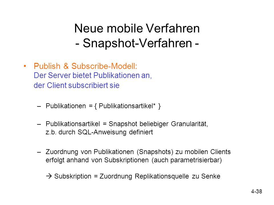 Neue mobile Verfahren - Snapshot-Verfahren -