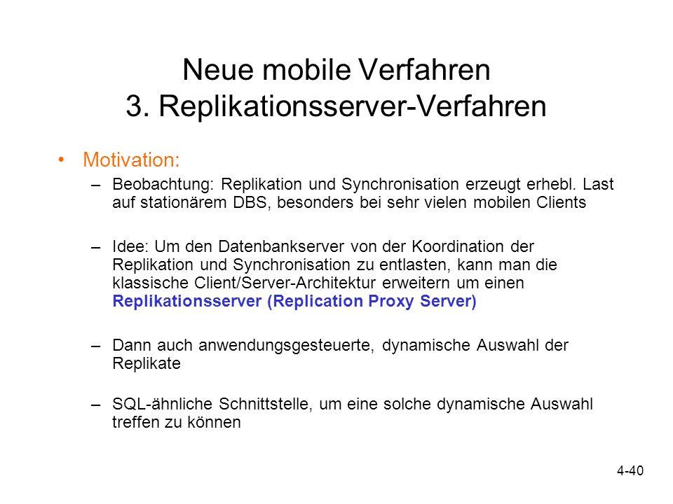 Neue mobile Verfahren 3. Replikationsserver-Verfahren