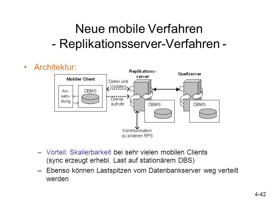 Neue mobile Verfahren - Replikationsserver-Verfahren -