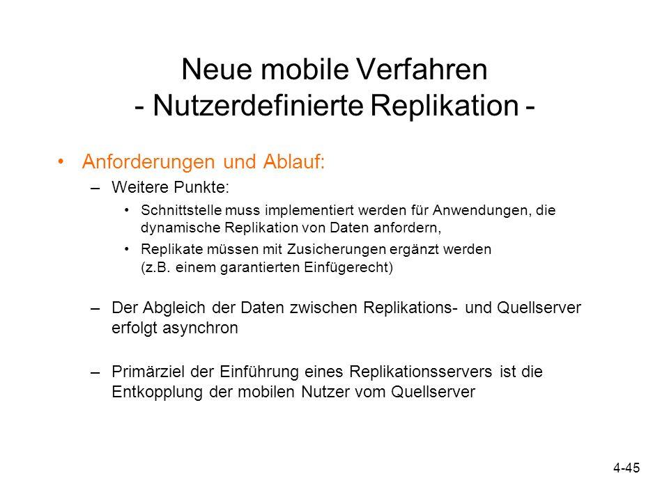 Neue mobile Verfahren - Nutzerdefinierte Replikation -