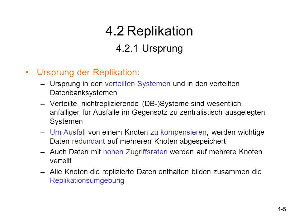 4.2 Replikation 4.2.1 Ursprung Ursprung der Replikation: