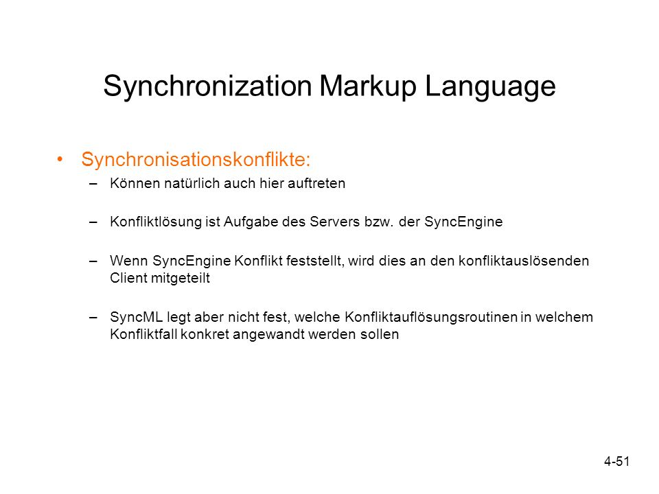 Synchronization Markup Language