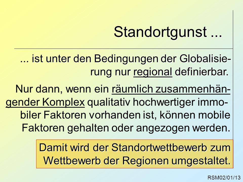 Standortgunst ... ... ist unter den Bedingungen der Globalisie-