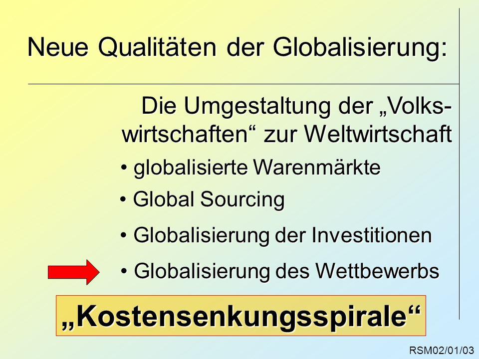 Neue Qualitäten der Globalisierung:
