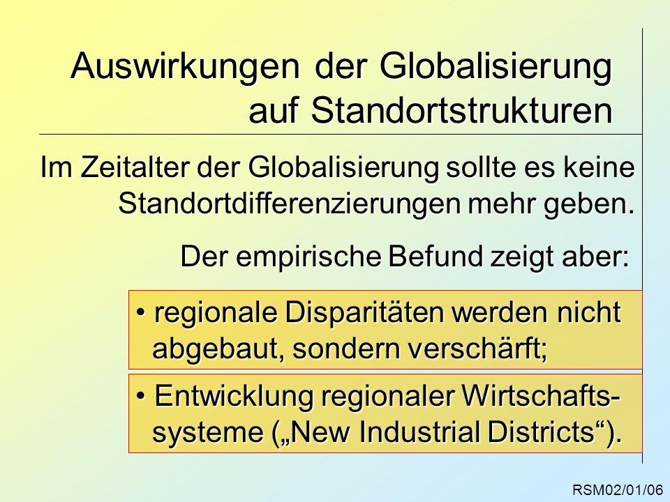 Auswirkungen der Globalisierung auf Standortstrukturen