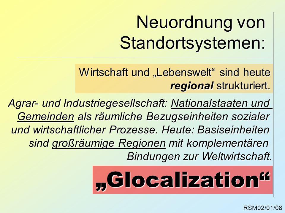 Neuordnung von Standortsystemen: