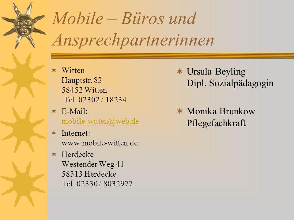 Mobile – Büros und Ansprechpartnerinnen