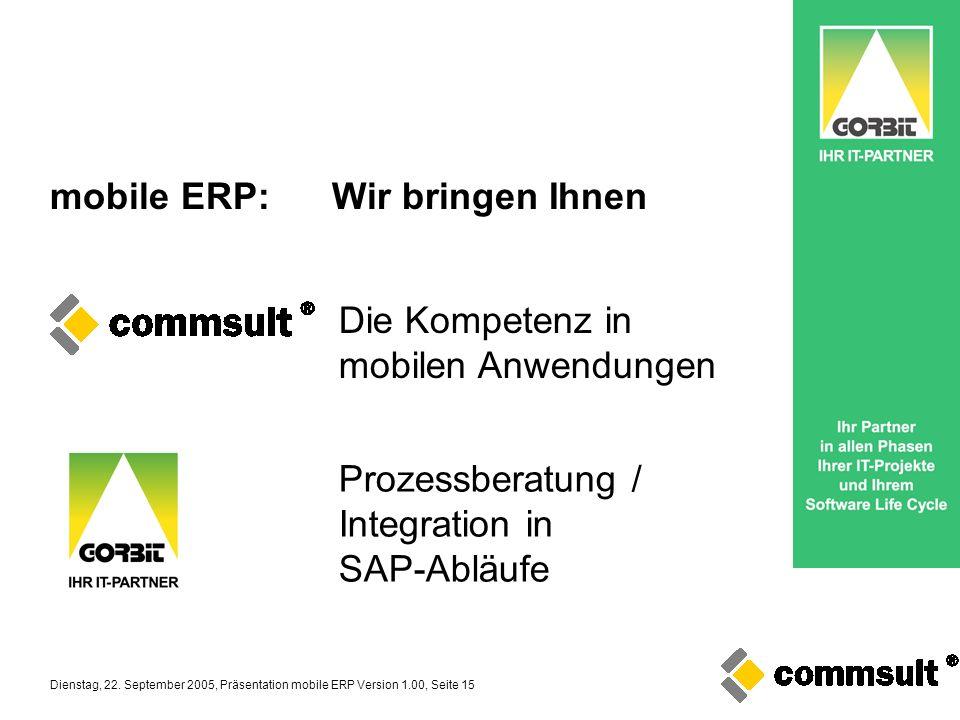 mobile ERP: Wir bringen Ihnen