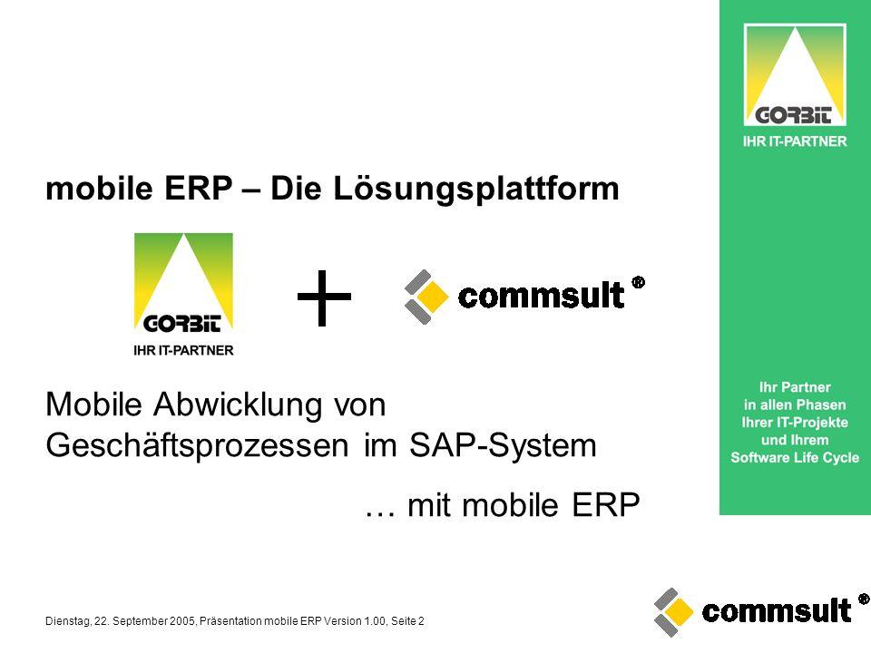 mobile ERP – Die Lösungsplattform