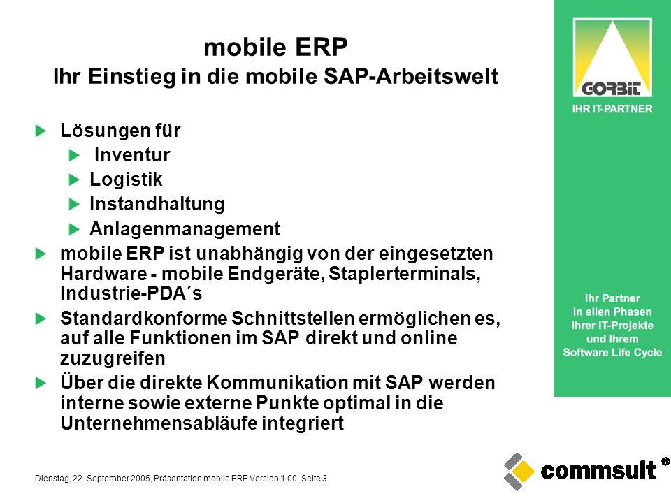 mobile ERP Ihr Einstieg in die mobile SAP-Arbeitswelt