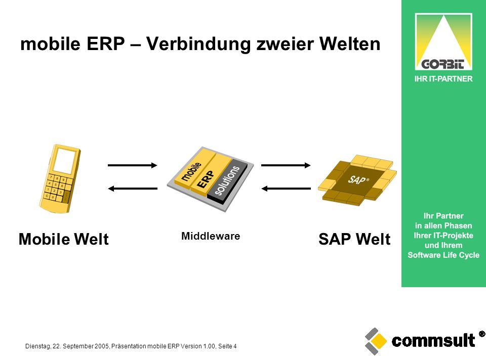 mobile ERP – Verbindung zweier Welten