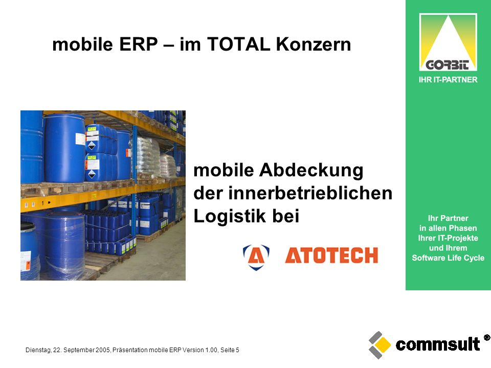 mobile ERP – im TOTAL Konzern