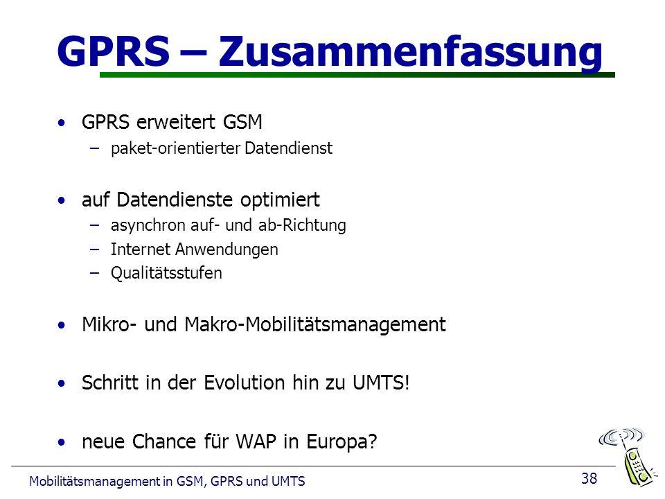 GPRS – Zusammenfassung