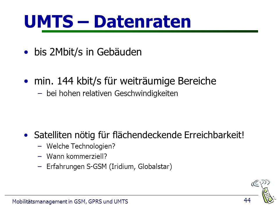 UMTS – Datenraten bis 2Mbit/s in Gebäuden