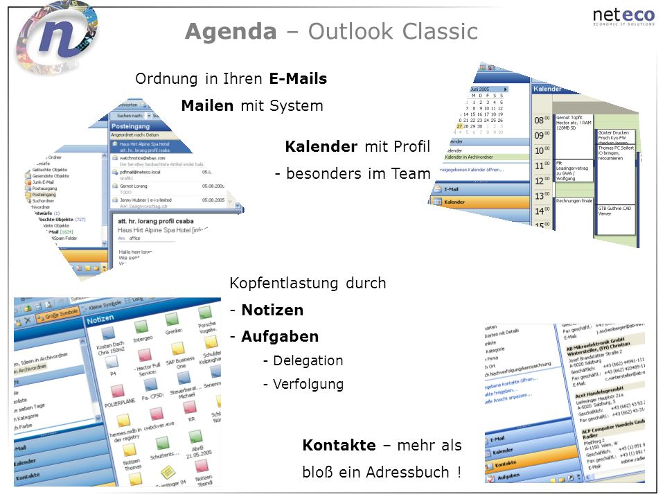 Agenda – Outlook Classic