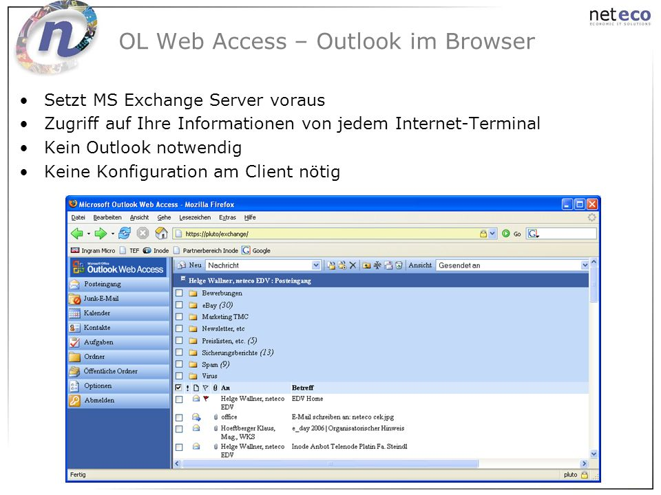 OL Web Access – Outlook im Browser