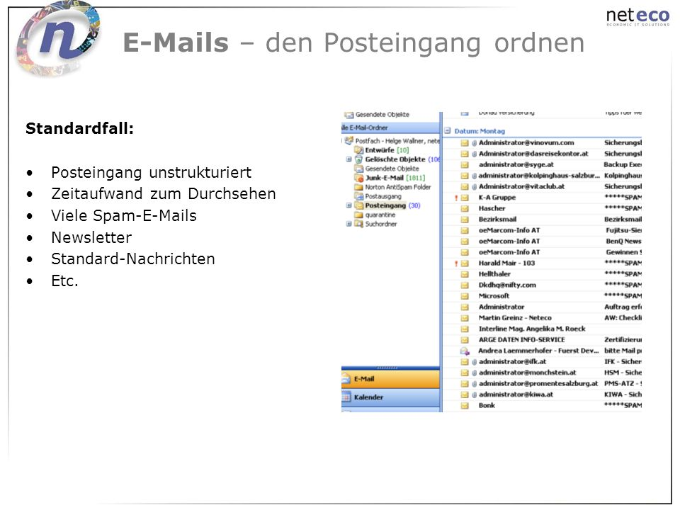 E-Mails – den Posteingang ordnen
