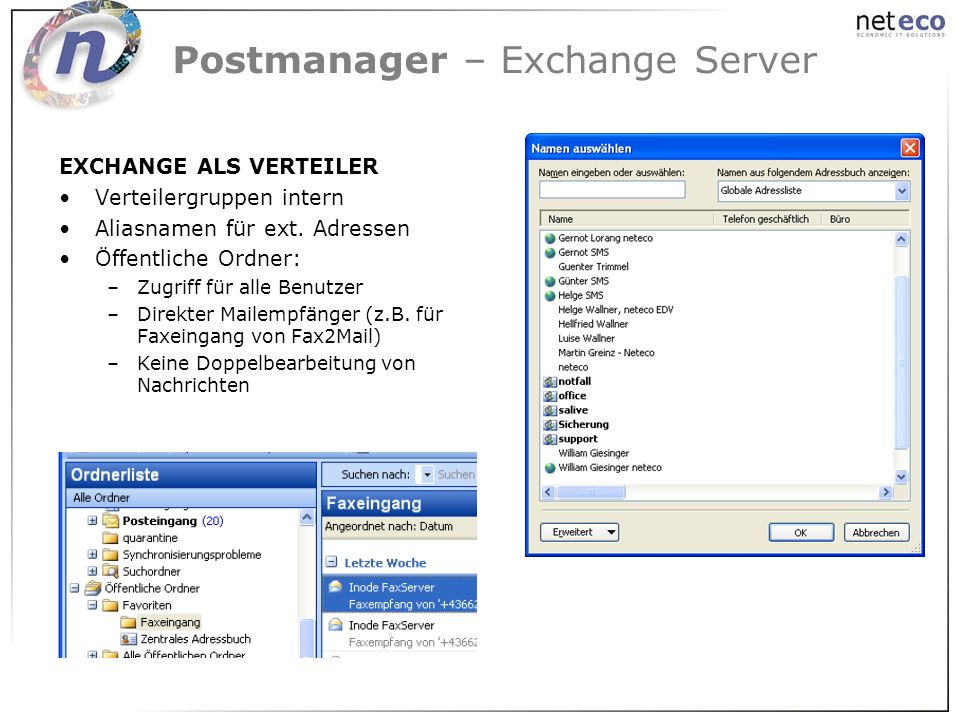 Postmanager – Exchange Server