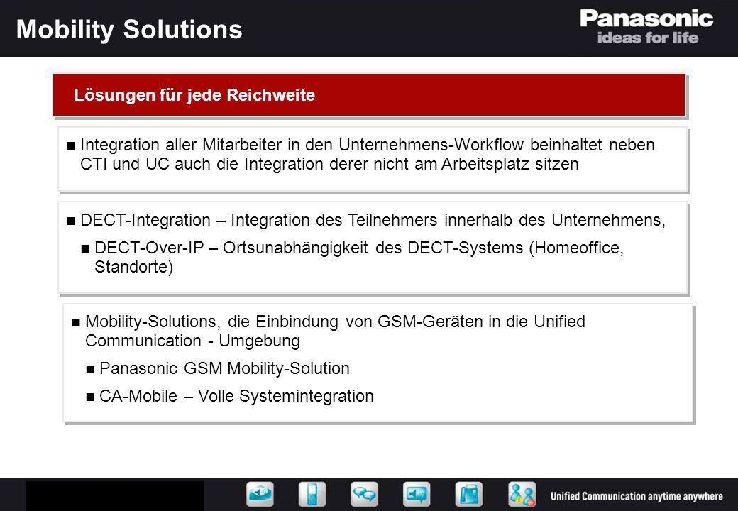 Mobility Solutions Lösungen für jede Reichweite