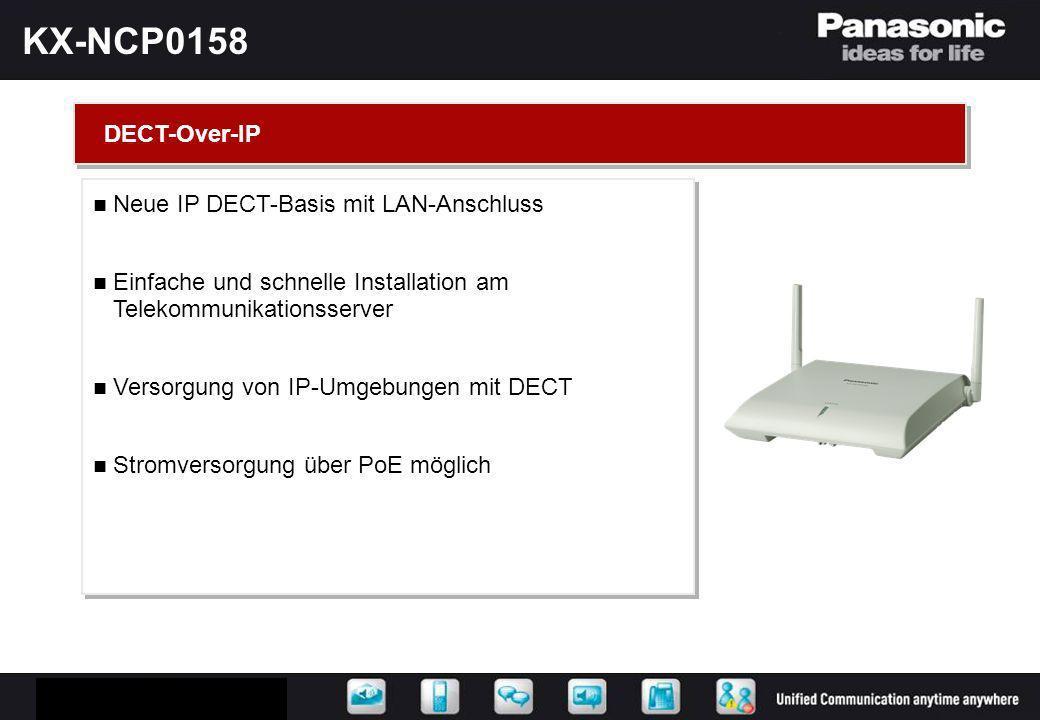 KX-NCP0158 DECT-Over-IP Neue IP DECT-Basis mit LAN-Anschluss