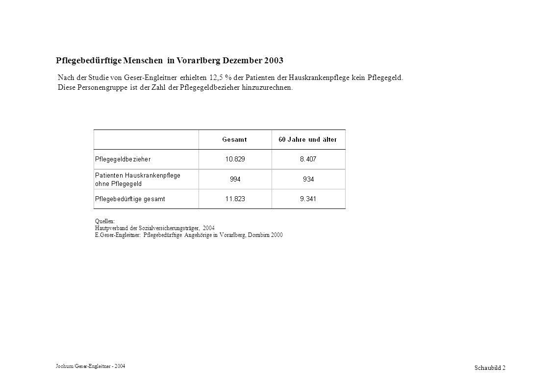 Pflegebedürftige Menschen in Vorarlberg Dezember 2003