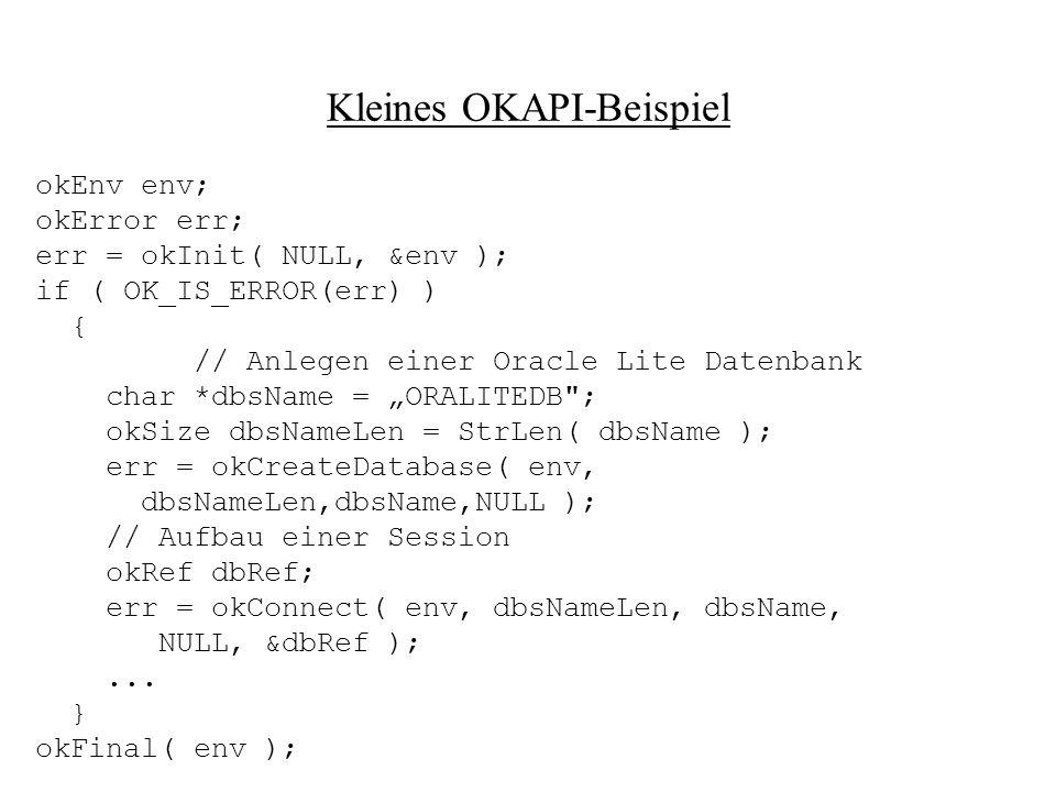 Kleines OKAPI-Beispiel
