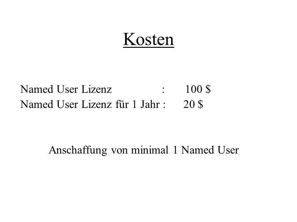 Anschaffung von minimal 1 Named User