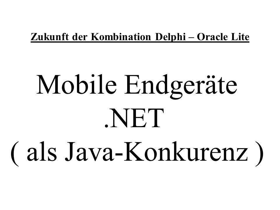 Zukunft der Kombination Delphi – Oracle Lite