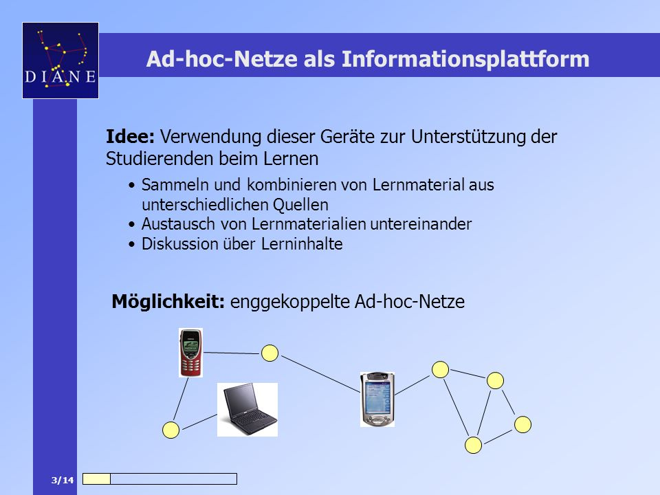 Ad-hoc-Netze als Informationsplattform