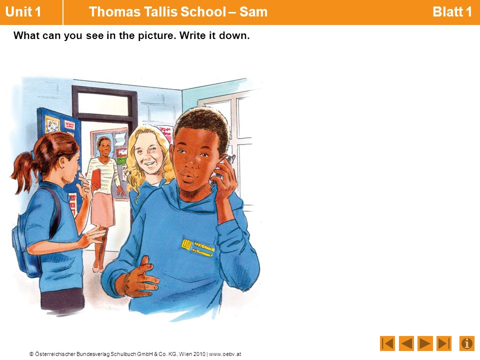 Unit 1 Thomas Tallis School – Sam Blatt 1