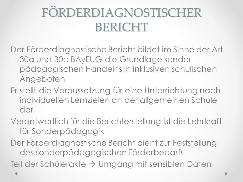 FÖRDERDIAGNOSTISCHER BERICHT