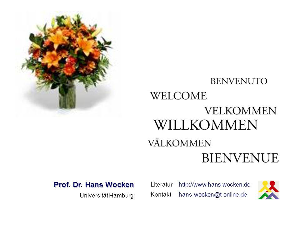 Prof. Dr. Hans Wocken Literatur http://www.hans-wocken.de Kontakt