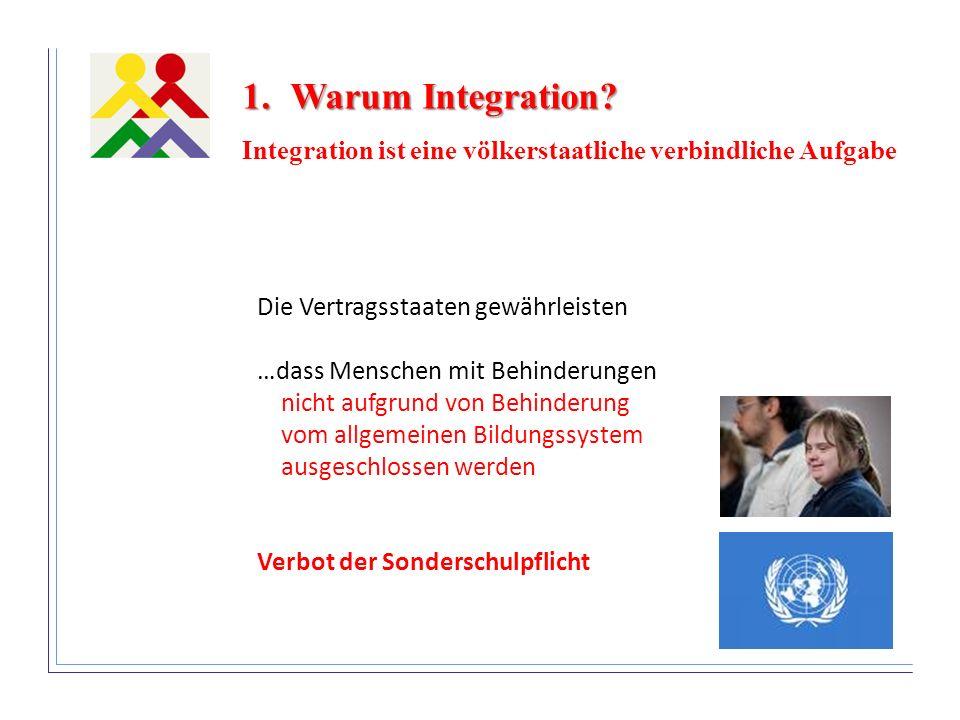 Warum Integration Integration ist eine völkerstaatliche verbindliche Aufgabe. Die Vertragsstaaten gewährleisten.