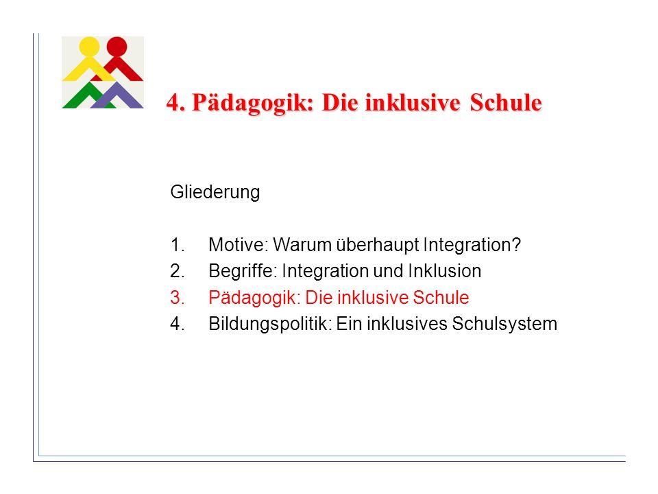 4. Pädagogik: Die inklusive Schule