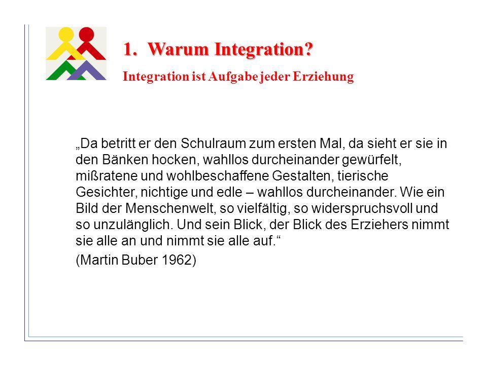 Warum Integration Integration ist Aufgabe jeder Erziehung