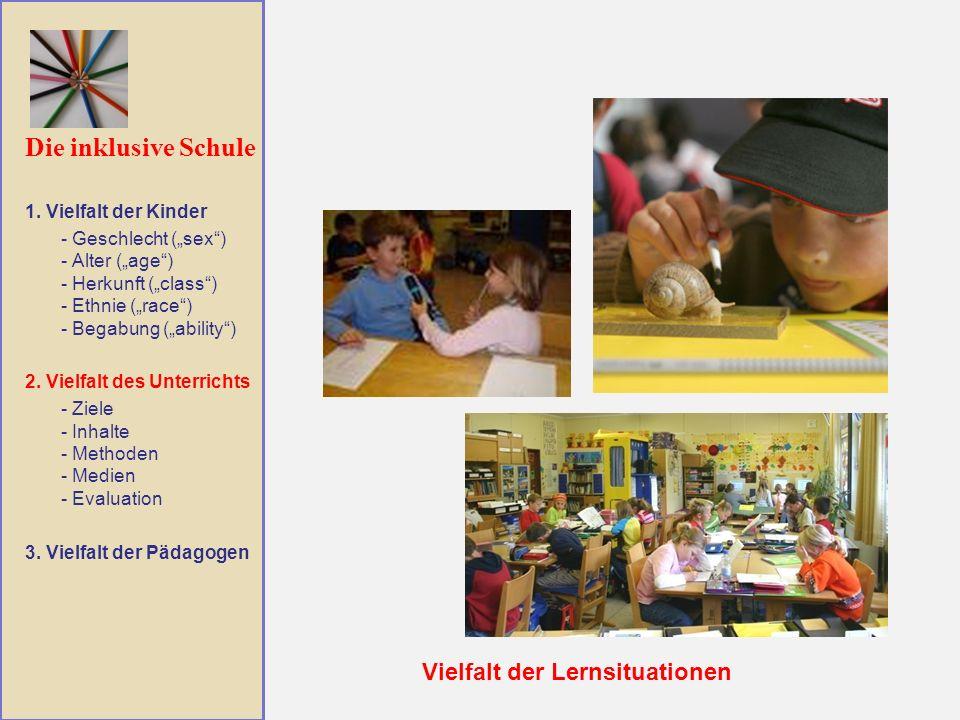 Die inklusive Schule Vielfalt der Lernsituationen