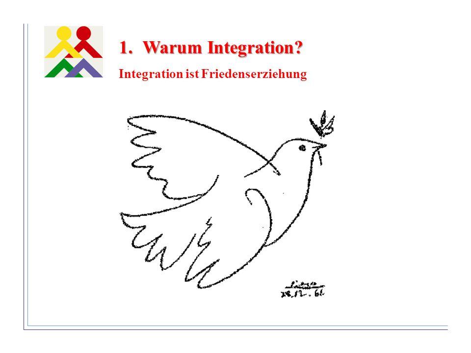 Warum Integration Integration ist Friedenserziehung