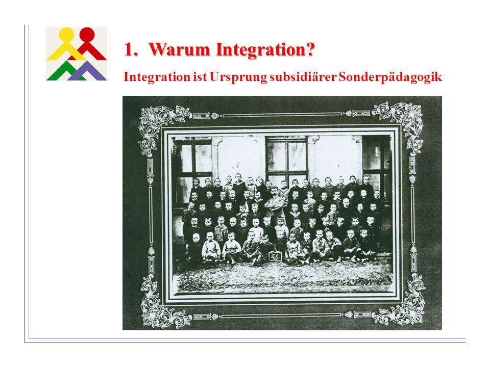 Warum Integration Integration ist Ursprung subsidiärer Sonderpädagogik