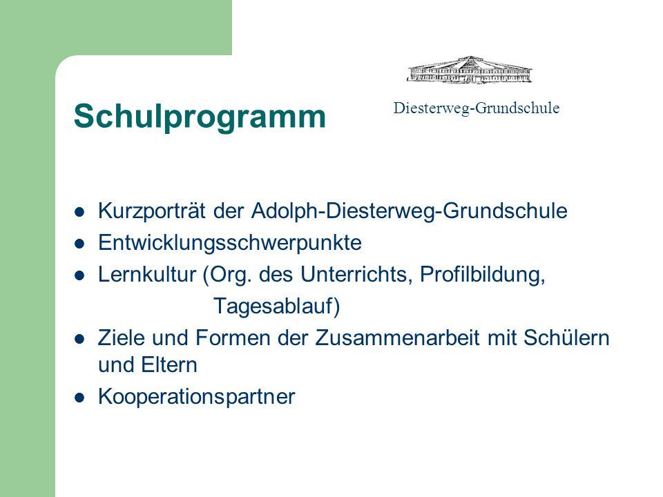 Schulprogramm Kurzporträt der Adolph-Diesterweg-Grundschule