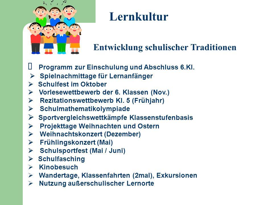 Lernkultur Entwicklung schulischer Traditionen