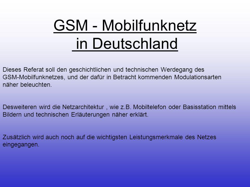 GSM - Mobilfunknetz in Deutschland